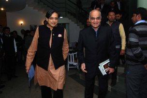 Dr. Tharoor arrives