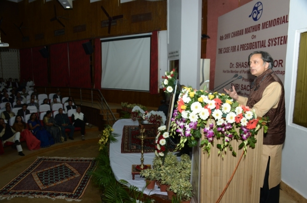 Shashi Tharoor delivering Lecture